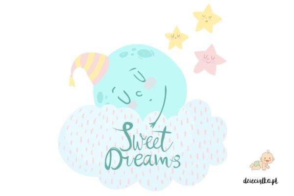 śpioch na chmurce - naklejki do pokoju dziecięcego