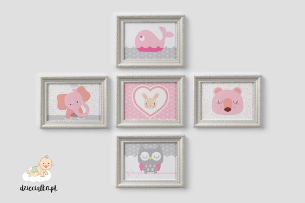 urocze zwierzaki - zestaw obrazków dla dzieci