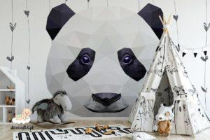 wielka głowa uroczej pandy - fototapeta dla dzieci