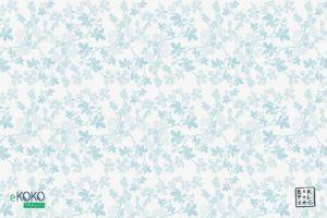 wzór delikatnych błękitnych liści leszczyny na białym tle - fototapeta