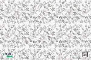 wzór delikatnych szarych liści leszczyny na białym tle - fototapeta