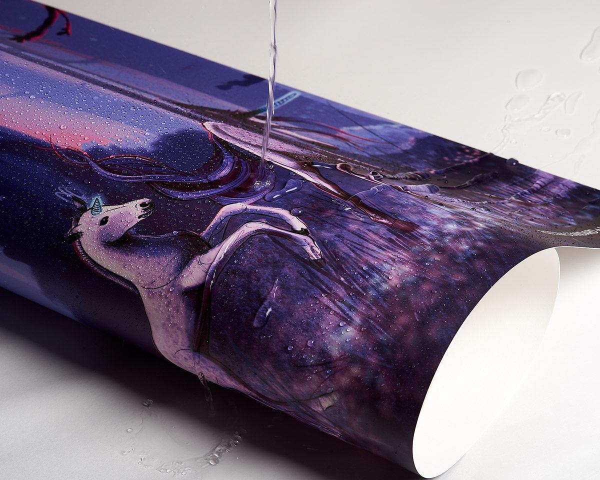 flizelina z laminatem, odporna nawet na najtrudniejsze zabrudzenia - materiał fototapety